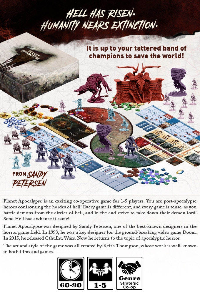 Planet Apocalypse by Sandy Petersen — Kickstarter |Planet Apocalypse Peterson