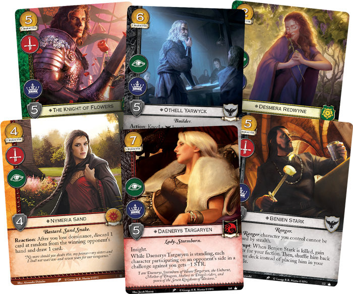 Valar Dohaeris A Preview Of 4 House Decks For Game Of Thrones